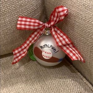 Cotton Colors Baseball Ornament 8.5""